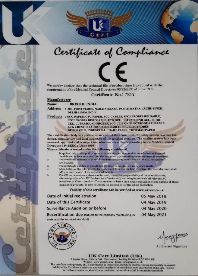 Bristol India Certificate CE